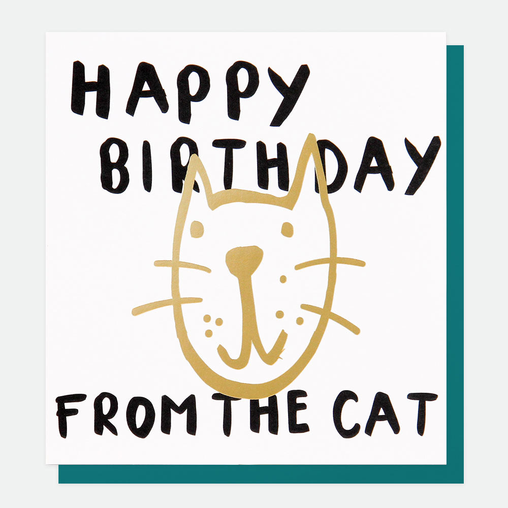 Happy Birthday from the Cat Card - The Tulip Tree Chiddingstone