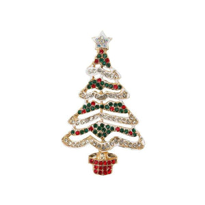 Christmas Entertainment Christmas Tree Enamel Badge
