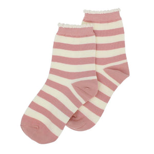Stripe Pastel Pink Socks - The Tulip Tree Chiddingstone