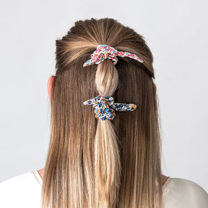 Hair Scrunchie Bow Pink