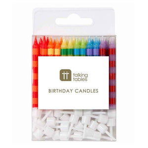 Birthday Bash Striped Candles