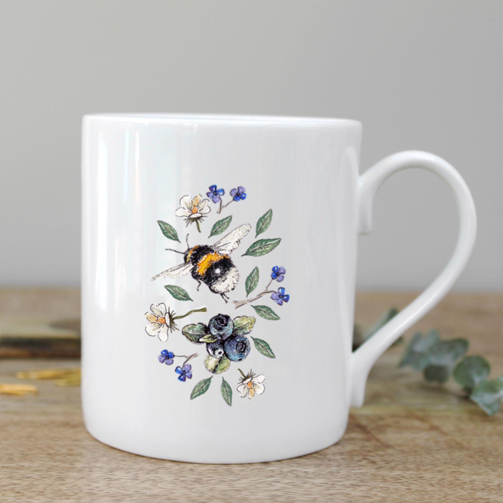Wild Flower Meadows Bee Mug in a Gift Box