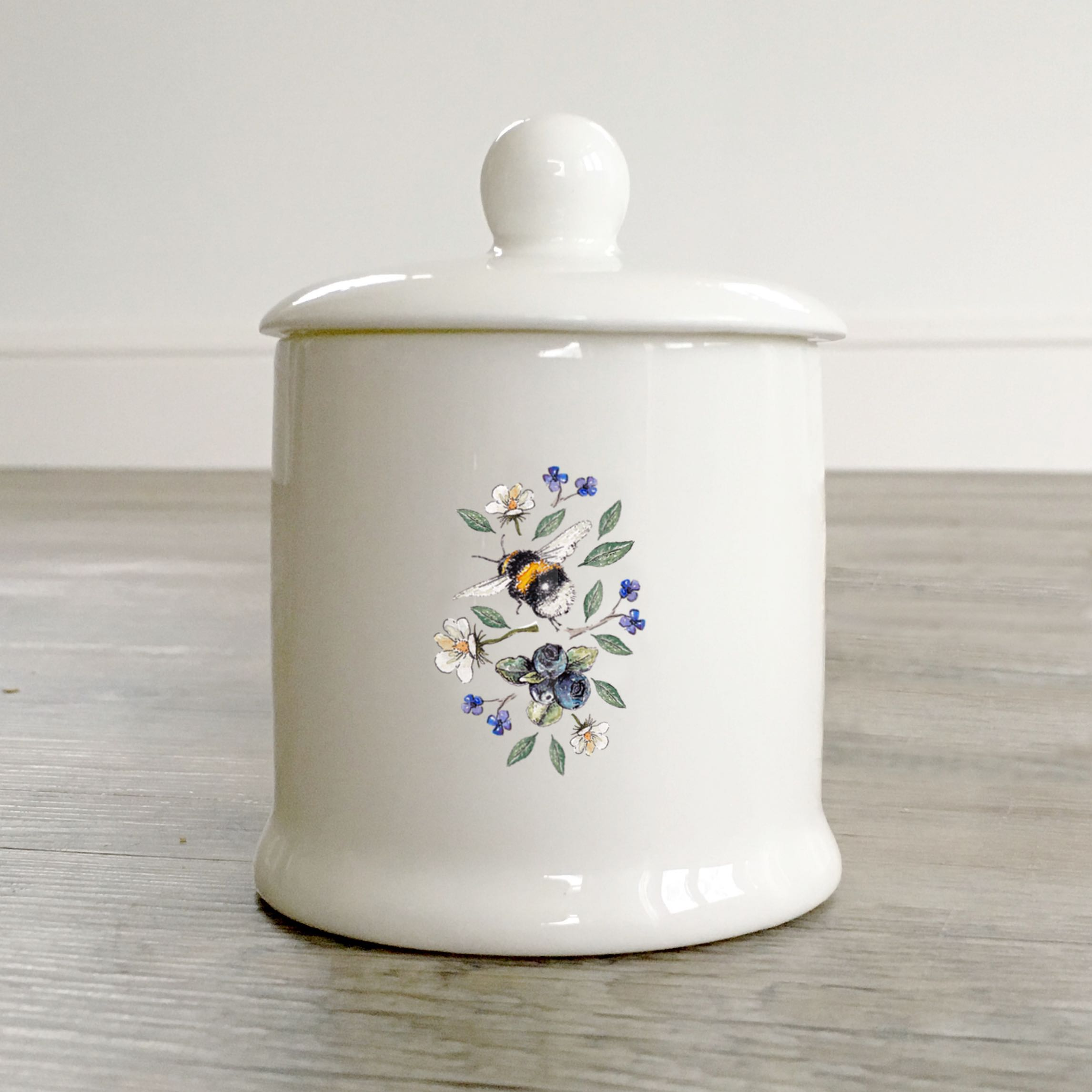 Wild Flower Meadows Bee Sugar & Condiment Pot in a Gift Box