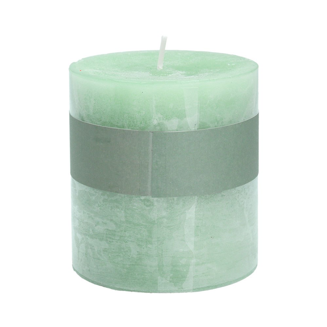 Green/Sage Pillar Candle Small