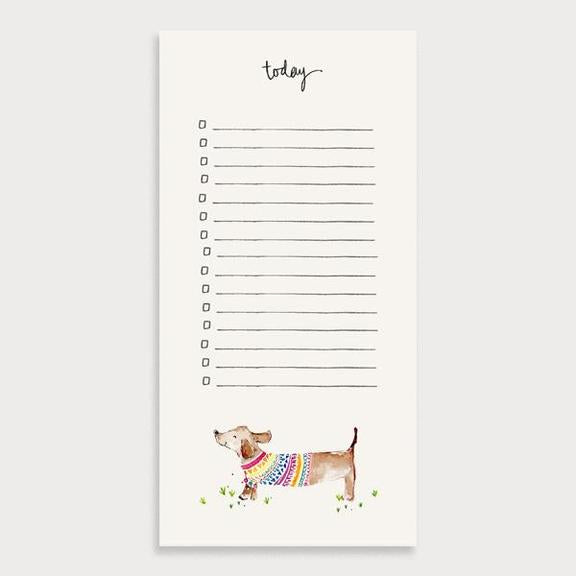 Sausage Dog To Do List Notepad