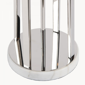 Nickel Plated Lamp with Grey Shade