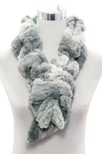 Wide Furry Ruffle Pull Through Scarf - The Tulip Tree Chiddingstone