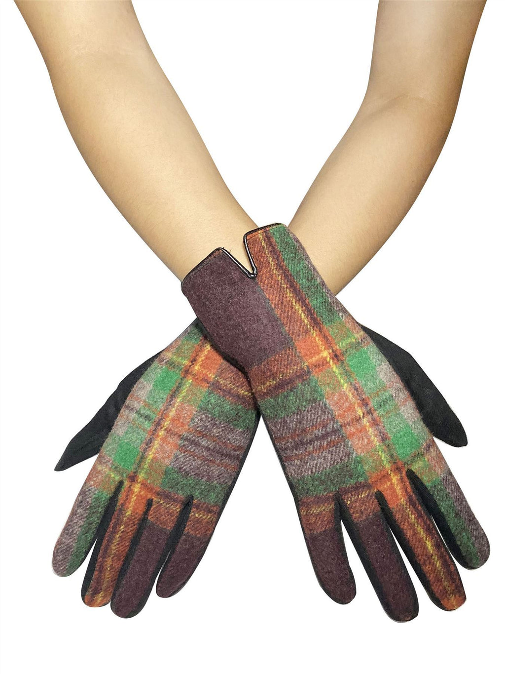 Traditional Tartan Touchscreen Gloves - The Tulip Tree Chiddingstone