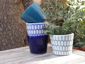 Peacock Blue Plant Pot