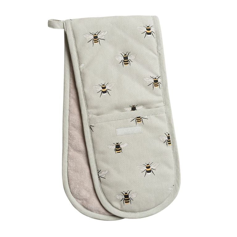 Bees Double Oven Glove - The Tulip Tree Chiddingstone