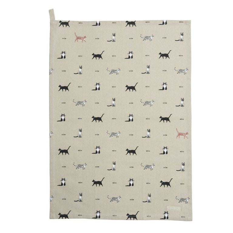Purrfect Tea Towel - The Tulip Tree Chiddingstone