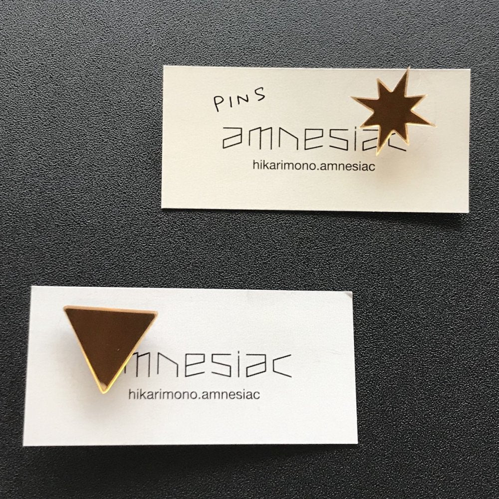 amnesiac ☆ pins (triangle/star)
