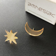 Load image into Gallery viewer, amnesiac ☆ star moon (earrings)