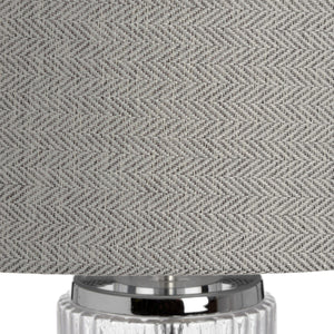 Glass and Silver Roma Table Lamp-Hills Interior-Luxe Interior