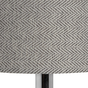 Silver Chrome Milan Table Lamp-Hills Interior-Luxe Interior