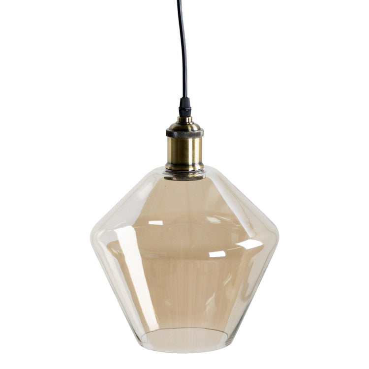 Smoked Glass Cone Pendant Light-Hills Interior-Luxe Interior