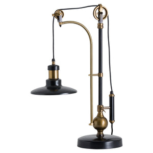 Brass Large Adjustable Table Lamp Hudson-Hills Interior-Luxe Interior
