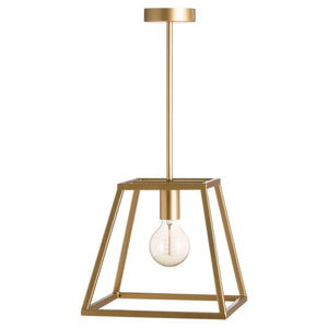 Brass Piped Pendant Light-Hills Interior-Luxe Interior