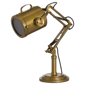 Brass Industrial Adjustable Spot Light Lamp-Hills Interior-Luxe Interior