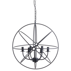 Spherical Round Industrial Chandelier-Hills Interior-Luxe Interior