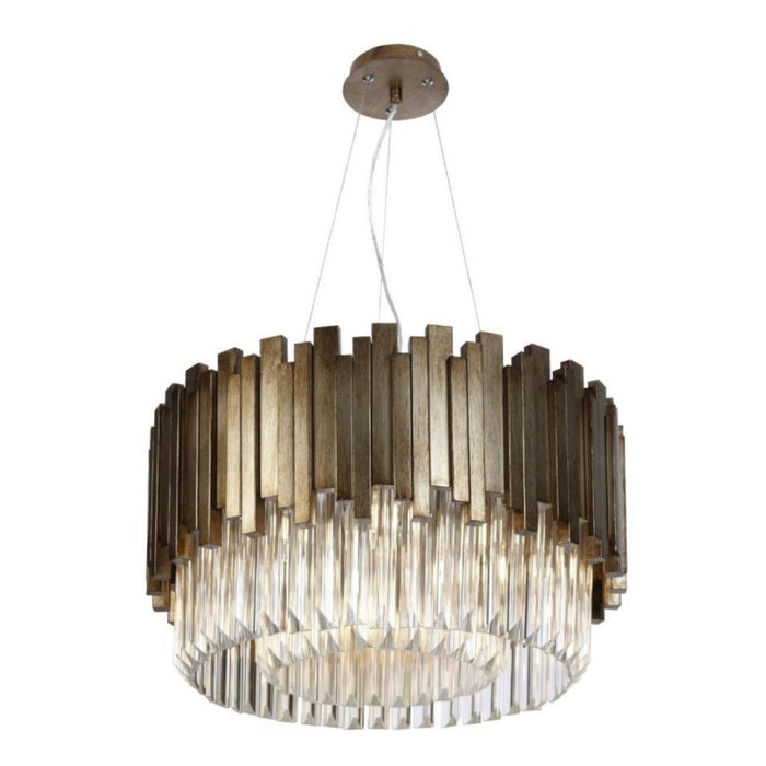 Gold Crystal Maive Large Pendant Chandelier