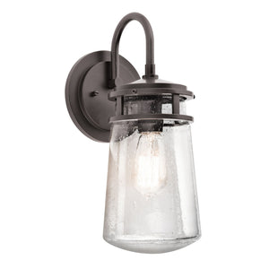 Lyndon 1 Light Medium Wall Lantern – Architectural Bronze-Wall Lighting-Luxe Interior
