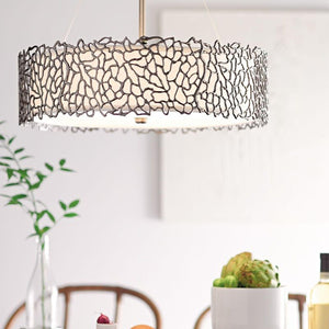 Silver Coral 3 Light Duo-Mount Pendant-Ceiling Lighting-Luxe Interior