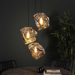 Ceiling Light Rock 3L Chromed-Furnwise-Luxe Interior
