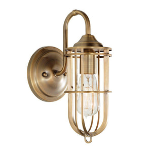 Urban Renewal 1 Light Wall Light – Dark Antique Brass-Feiss-Luxe Interior