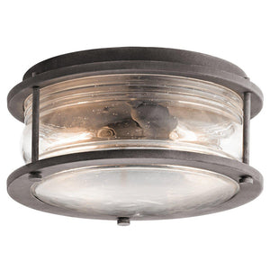 Ashlandbay 2 Light Outdoor Ceiling Flush-Kichler-Luxe Interior