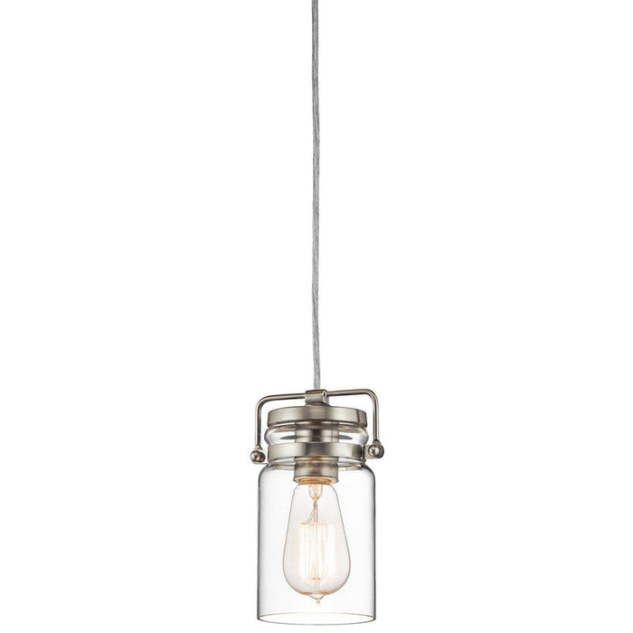 Brinley 1 Light Mini Pendant – Brushed Nickel