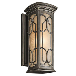 Franceasi 1 Light Medium Wall Lantern-Kichler-Luxe Interior