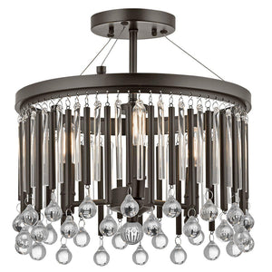 Piper 3 Light Semi Flush-Kichler-Luxe Interior