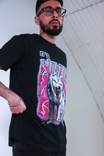 Load image into Gallery viewer, IT'S WOLFIN' SZN - BLACK AND PINK T SHIRT
