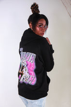 Load image into Gallery viewer, IT'S WOLFIN' SZN - BLACK AND PINK HOODIE