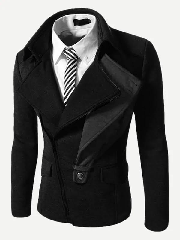 Double Lapel Black Jacket
