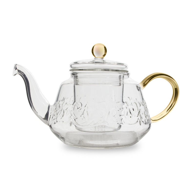 "Yama Glass ""Winston"" Swirl Tea Pot"