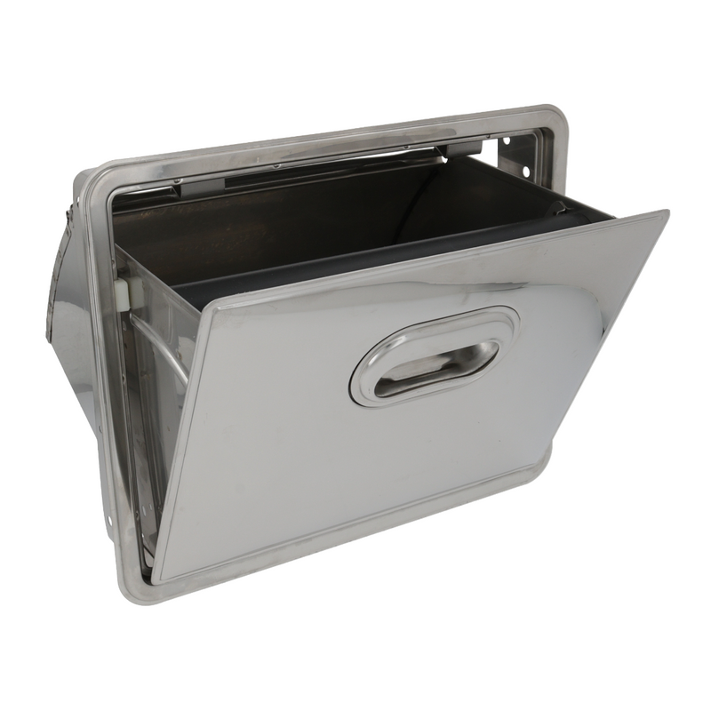 Stainless Steel Fold-down Knock Box Drawer