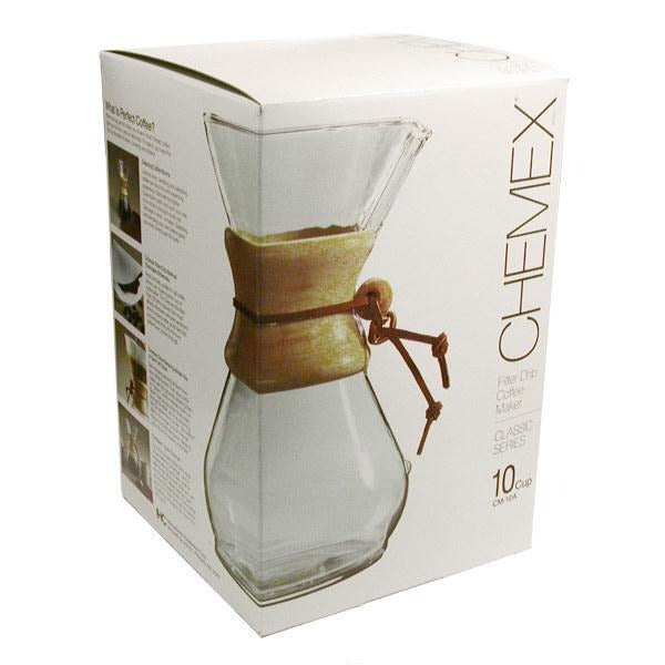Chemex Ten Cup Classic Series Glass Coffee Maker - 10 Cup Coffee Maker