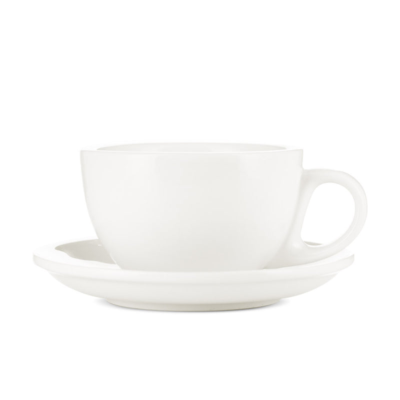 EP Porcelain Cappuccino Cups W/ Saucers (6oz) Set of 2
