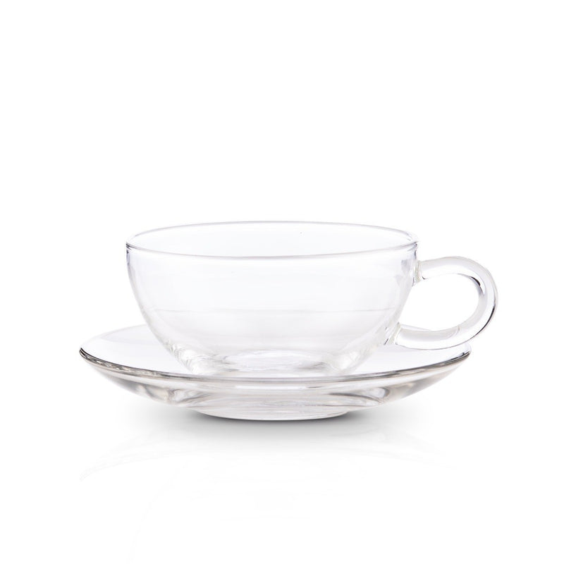 Set of 4 Cups and Saucers (8oz)