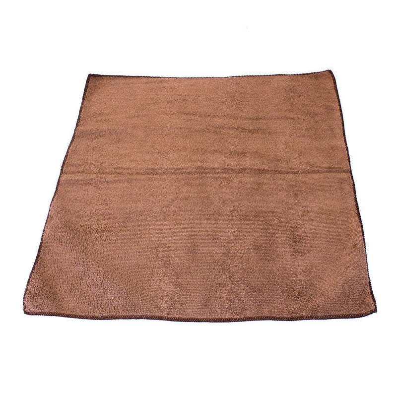 "Brown Microfiber Cloth Towel 16"" x 16"""