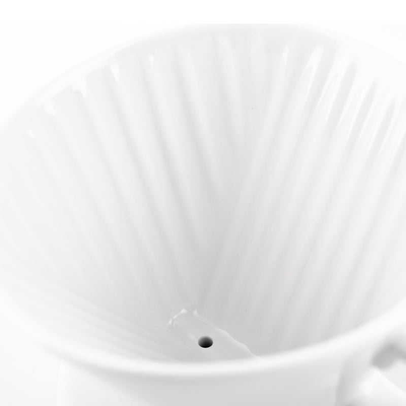 kalita white ceramic dripper wave design