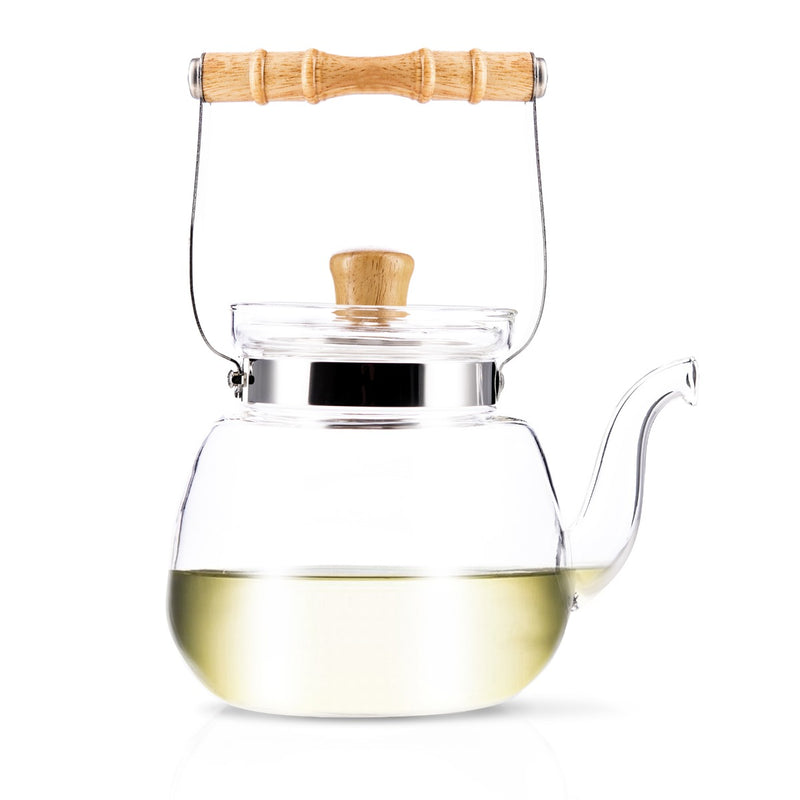 Yama Tea Pot, 40oz & Hearth Glass Mug Kit