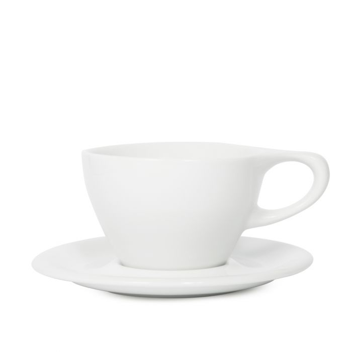 notNeutral Lino Latte Cup & Saucer - White Small Latte (8oz/240ml)