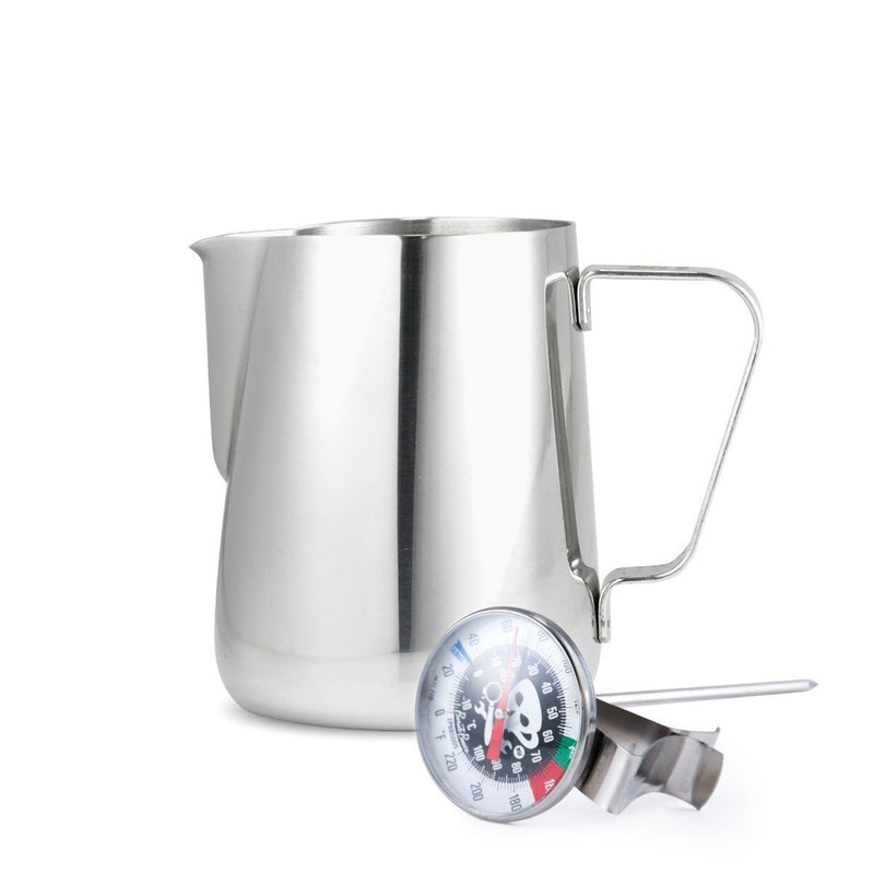 20oz. Steaming Pitcher & Thermometer Combo