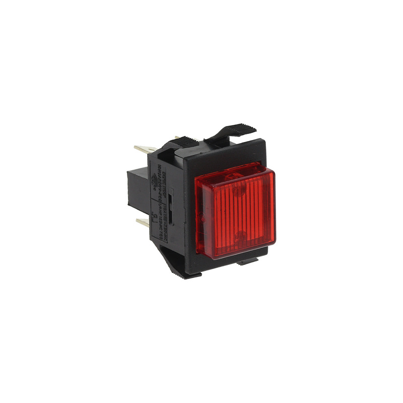 Red Square Bipolar Luminous Switch