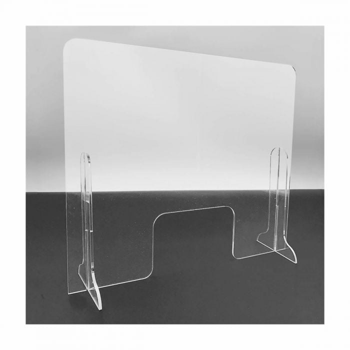 LARGE ACRYLIC SNEEZE GUARD COUNTER SHIELD WITH WINDOW - 24 X 28