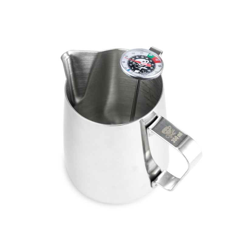 12oz. Milk Steaming Pitcher & Thermometer Combo