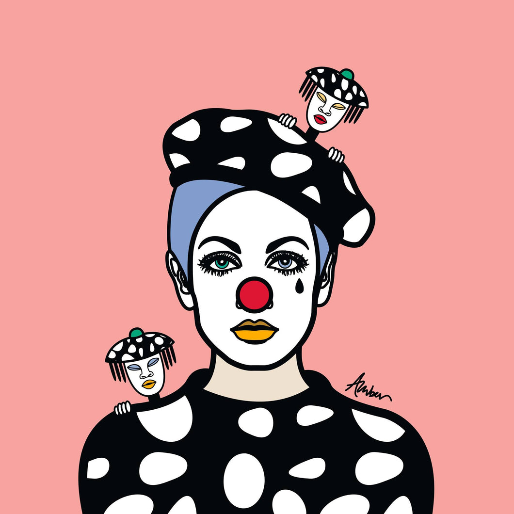 Twiggy Pink Mime Pop